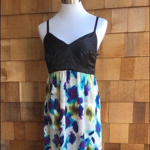 Bebe Maxi Dress w/Satin Finish on Top & Colors.